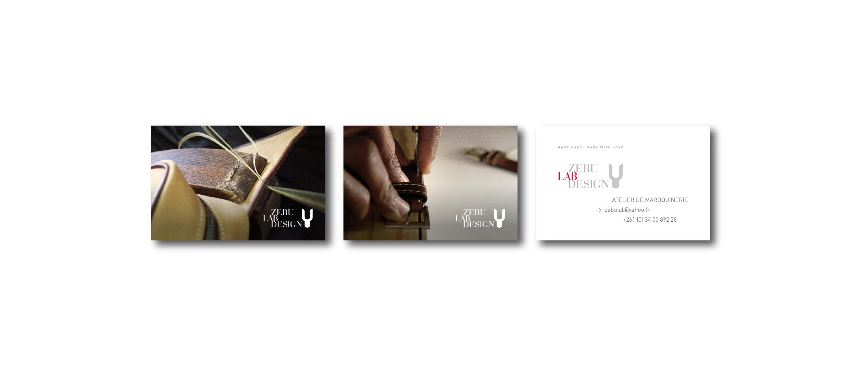 IZAHO Atelier Maroquinerie Logo Cartes visite